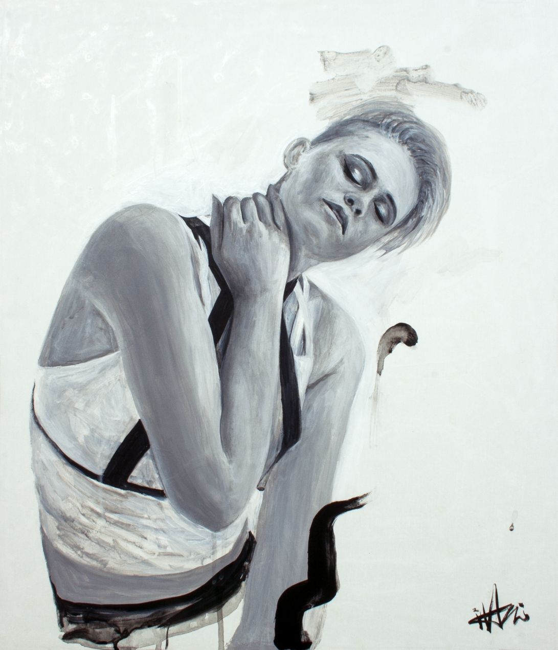 Mishay Petronelli . 45.5x53cm . acrylic on canvas . 2017
