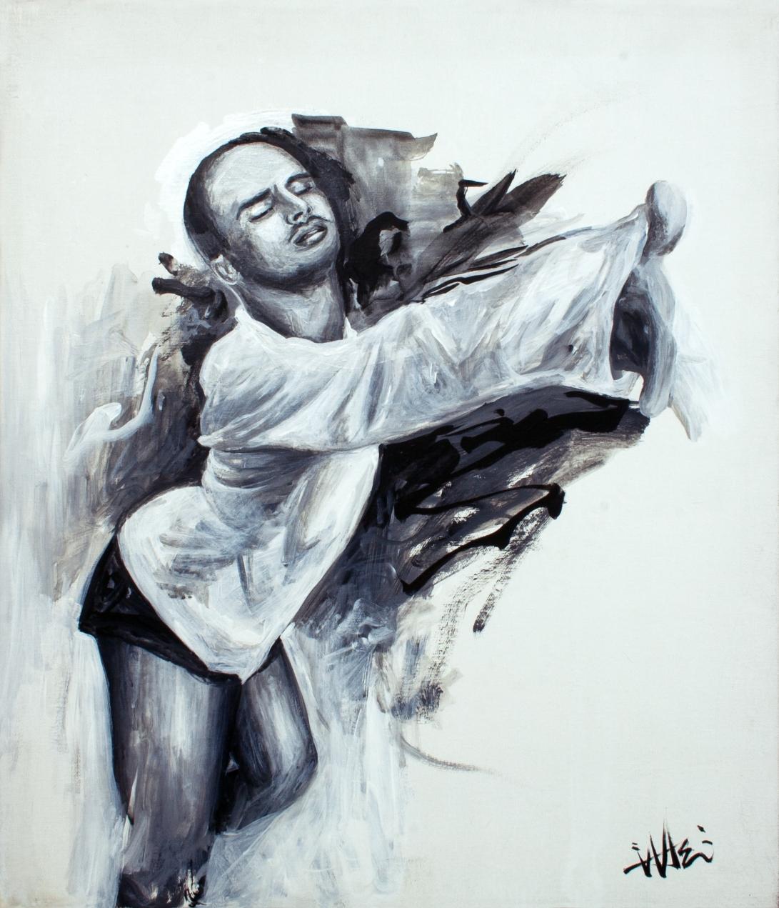 Yanis Marshall . 45.5x53cm . acrylic on canvas . 2017